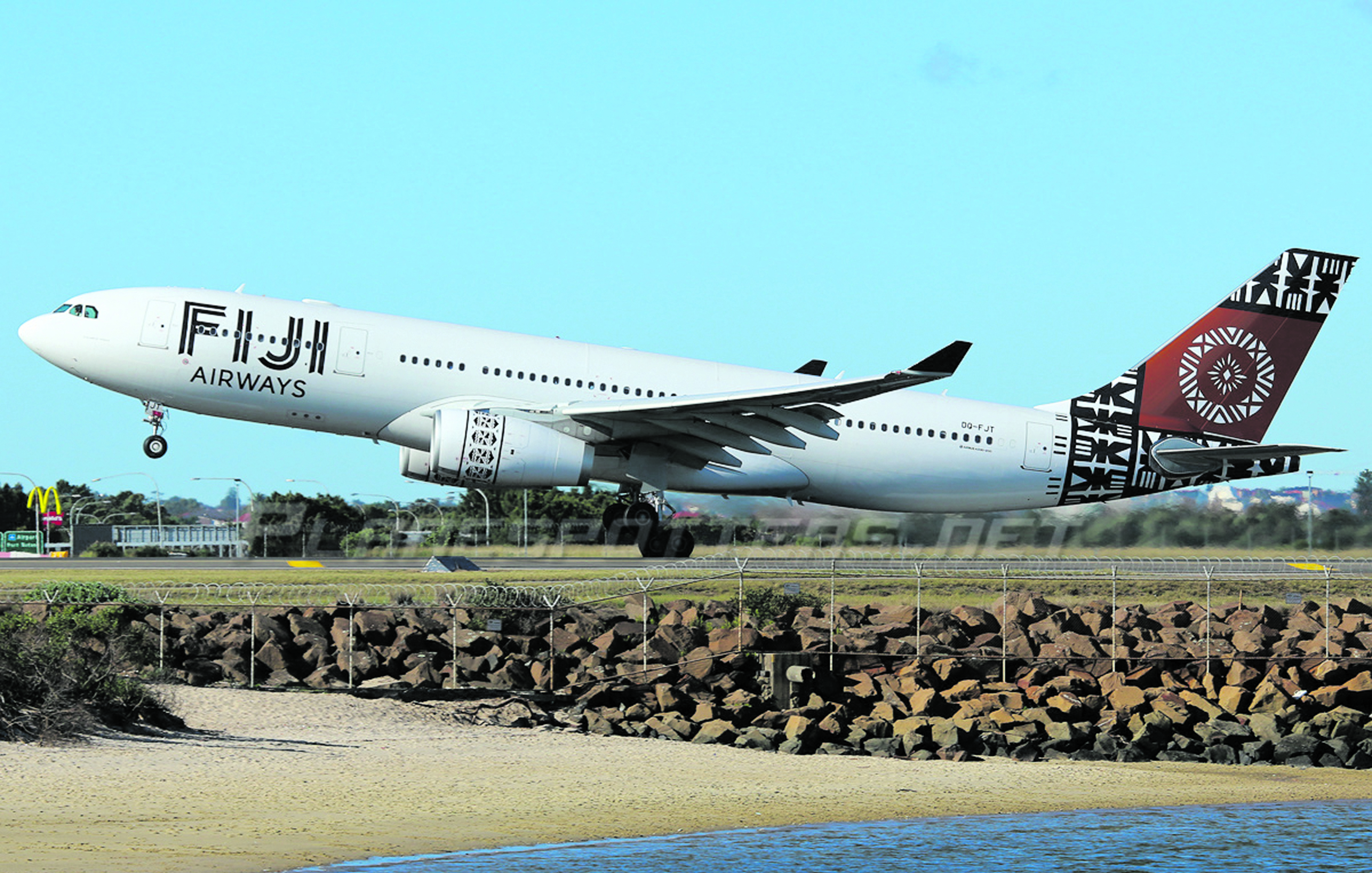 A Fiji Airways Boeing 737 plane.