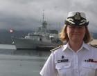 Women In Fiji Navy Please Visiting Canadian Commodore Mulkins