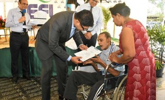 Physically-challenged Father of 4 in Tears  After Receiving EFL Share Certificate