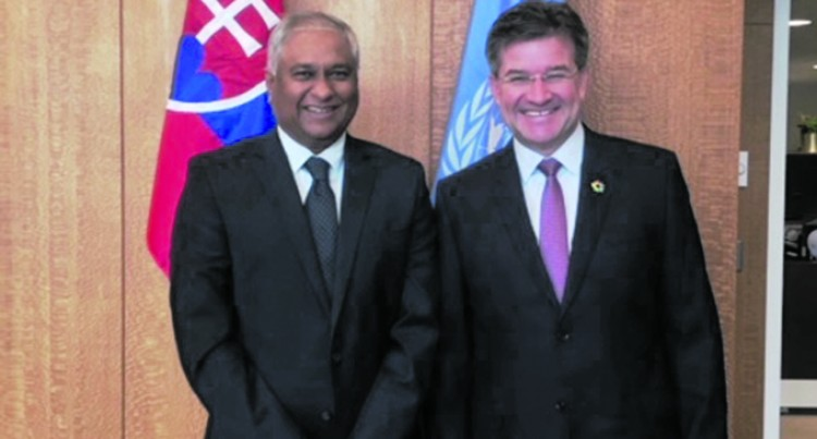 Ambassador Prasad meets president of United Nations General Assembly