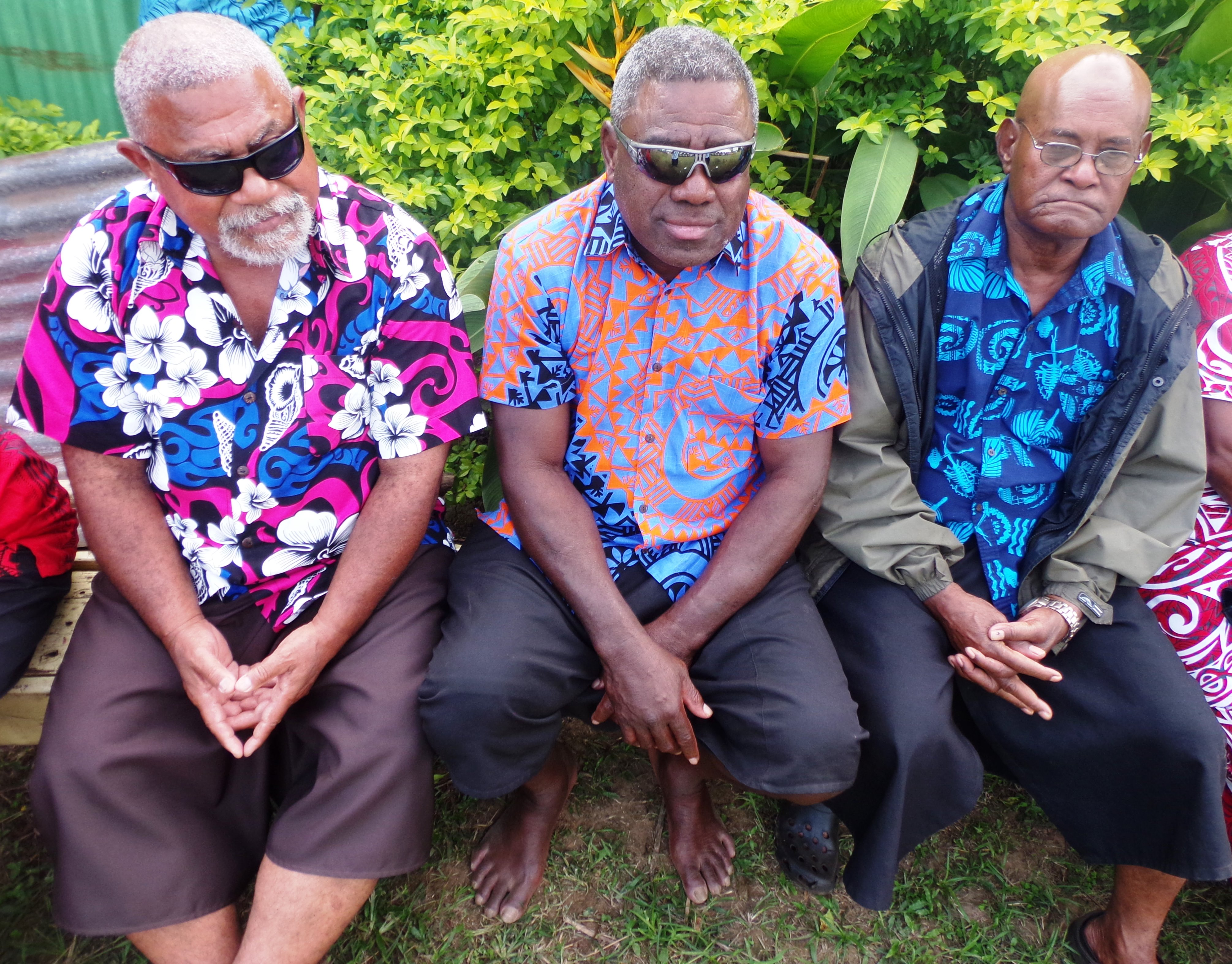 Proud dad Isikeli Ratulevu (middle)with family members during his two sons' wedding at Votua Village in Ba, on June 29, 2018. Photo: Peni Komaisavai