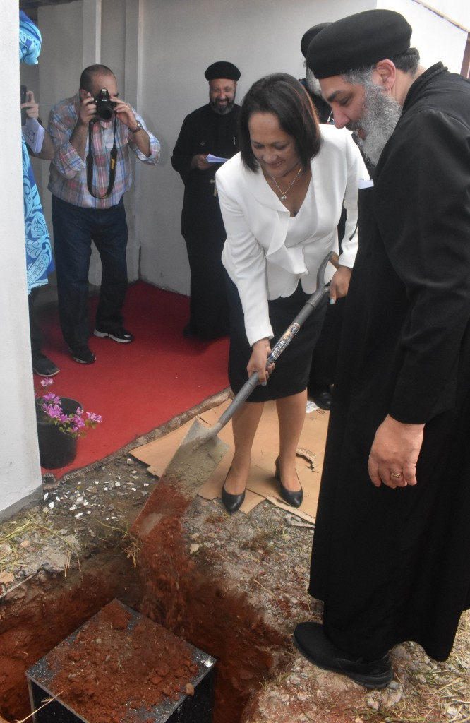 Minister for Health and Medical Services, Rosy Akbar at the ground breaking ceremony of the Saint Mina Home in Legalega in Nadi on 12 June 2018. PHOTO: ARIETA VAKASUKAWAQA