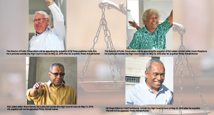 Report: DPP Will Only Appeal Acquittal Of Fiji Times, Arts And Waqabaca