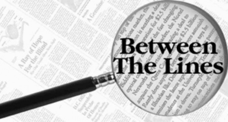 between the lines: 30th October, 2018