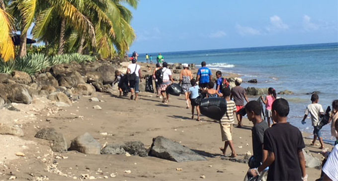 Cleanup campaign at Wairiki Foreshore in Taveuni Island on June 16,2018. Photo:SUPPLIED
