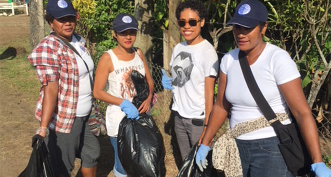 Youths who participated in the clean-up campaign at the Wairiki Foreshore, Taveuni on June 16, 2018.