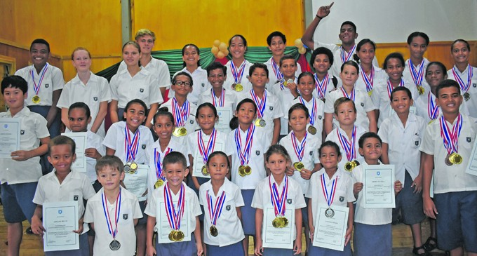 Mission School Celebrates Swimming Success