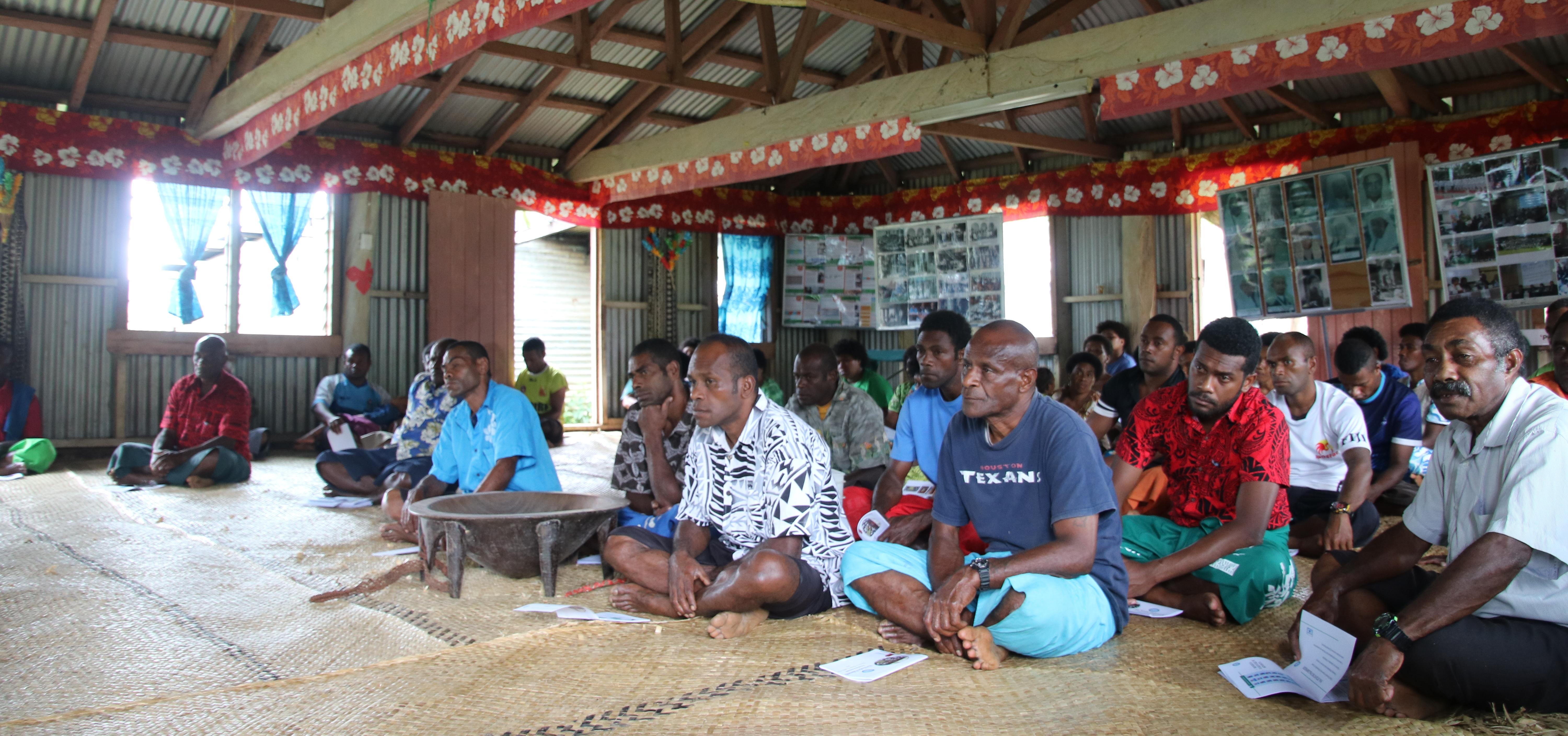Villagers of Navai listening during the programme. Photo: Parliament of Fiji