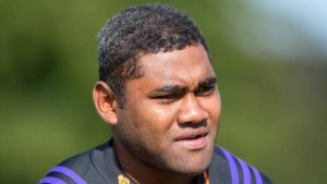 Former Fijian basketball star and Taranaki loose forwards Jim Gus Sowakula. He made his Super Rugby debut with the Chiefs this year and is likely to be in Suva for Saturday's clash. Photo: Stuff
