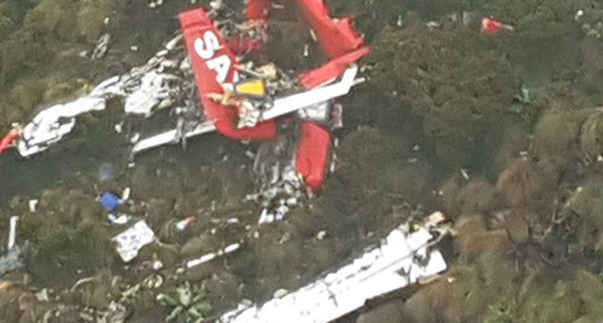 The wreckage of the Fly-SAX-managed Cessna C208 aircraft