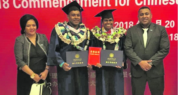 Two Fijians Graduate From China University