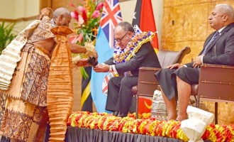 PM O'Neill Touched By Welcome Ceremonies