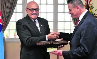 Ecuador Envoy Accorded Guard Of Honour, Solomons Farewelled