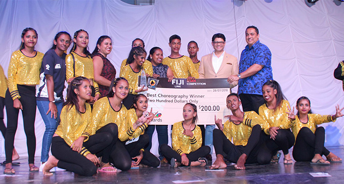 Students of Korovuto College won best choreography in the Fiji Link Dance competition at the FMF Gymnasium in Suva on July 28, 2018. Photo: DEPTFO News