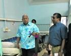 Bainimarama visits Nadi  Hospital  after arrival