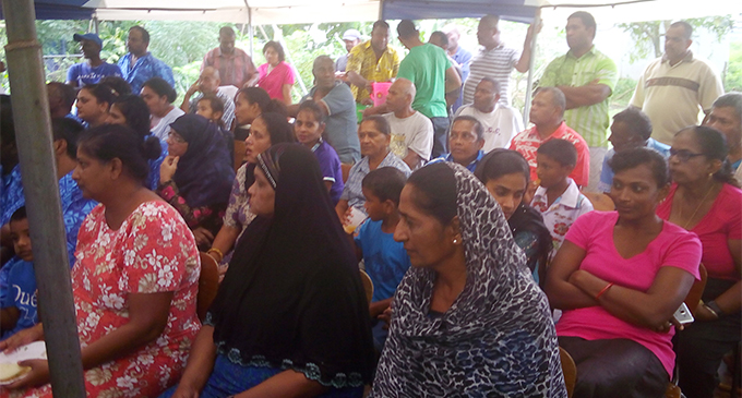 Residents of Lakena and Manoca during the talanoa session with Minister for Waterways Mahendra Reddy on July 13, 2018.  Photo: Wati Talebula