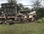 Dawn blaze destroys home