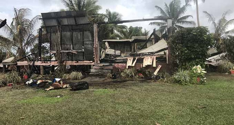 Dawn blaze destroys home