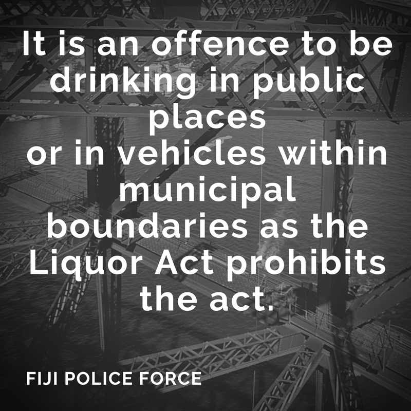 Members of the public are reminded that it is an offence to be drinking in public placesor in vehicles within municipal boundaries as the Liquor Act prohibits the act.