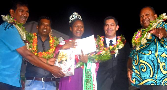 Miss Sharma Music Centre , Kirisitiana Uluwai (middle) after being crowned Miss Nadi Bula Festival 2018 at Prince Charles Park in Nadi on 21 July 2018. PHOTO: ARIETA VAKASUKAWAQA