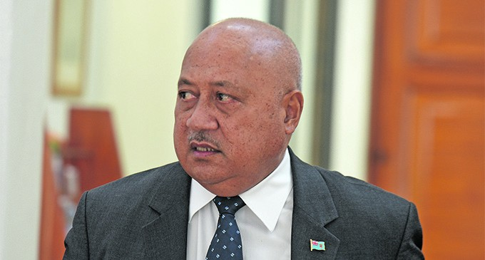 Kubuabola Outlines Policing Standards