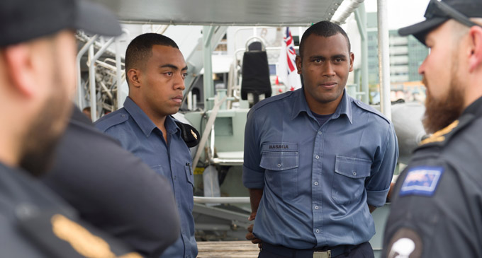 The deployment of RNZN ships provide a valuable training experience for sailors of the Fijian Navy. Photo: New Zealand Defence Force