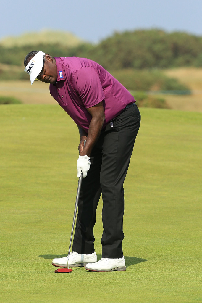 Vijay Singh of Fiji in action during the second round of the Senior Open presented by Rolex played at The Old Course in St Andrews, Scotland on July 27, 2018. Photo:  Zimbio