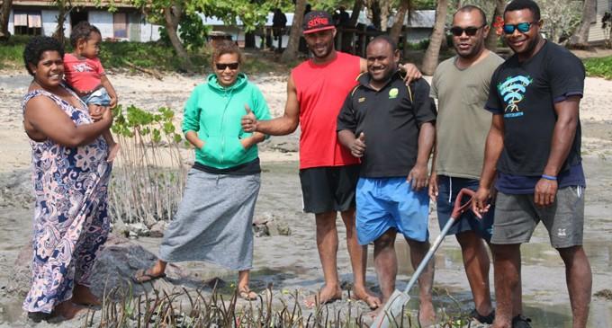Nacula Villagers Plant Mangroves To Save Eroding Coastline