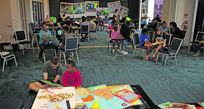 Rain Fails To Deter Kids From Book Club Session