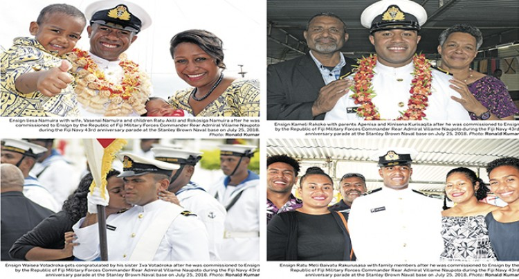 Four Promoted To Rank Of Ensign