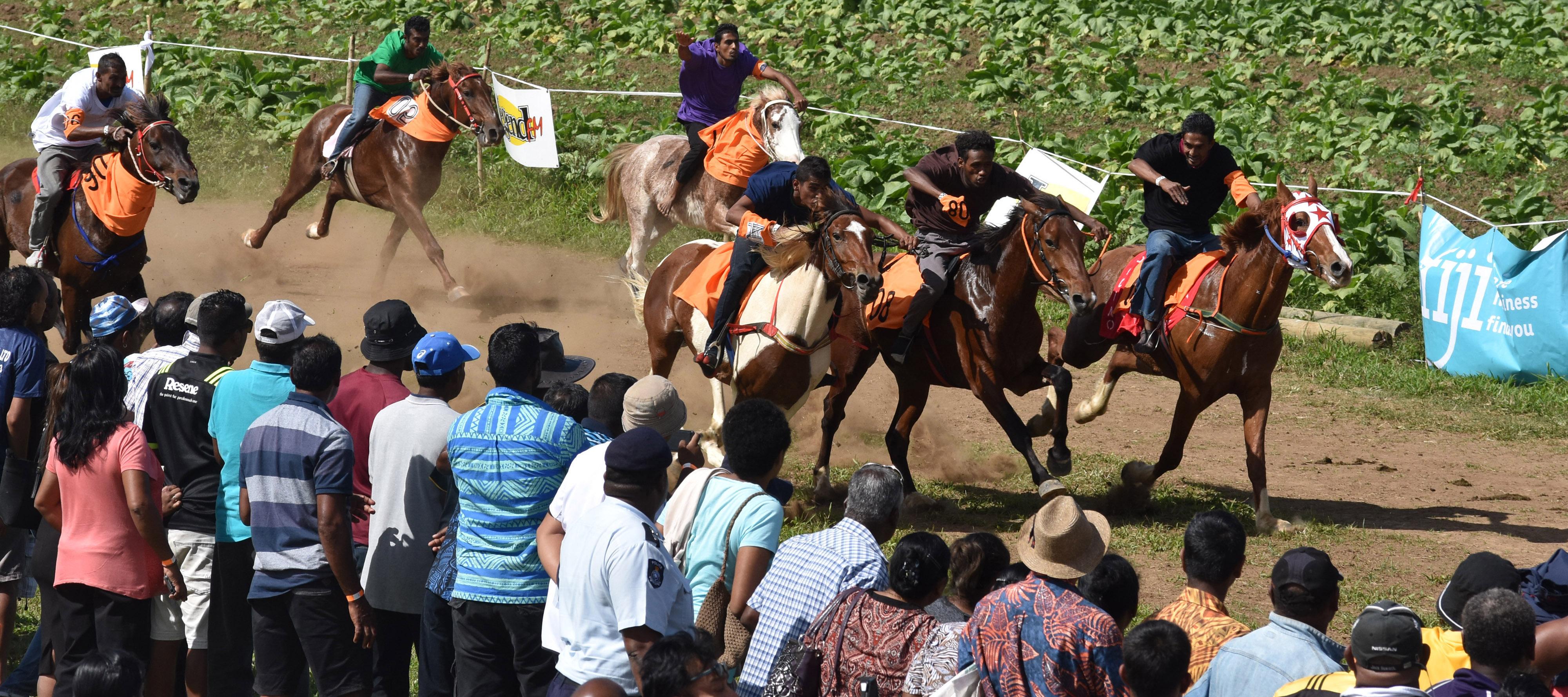Volcano wins the race at the Sabeto Races at Aviva Farms in Sabeto, Nadi on June 30, 2018.  Photo: Waisea Nsokia