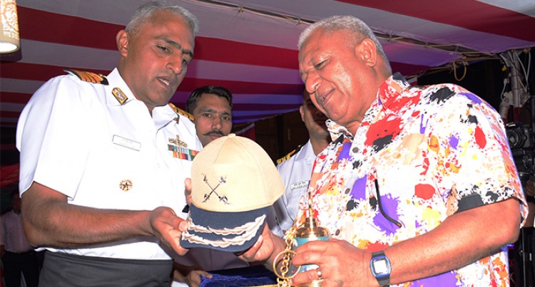 Fiji Celebrates Indian Day On board INS Sahyadri