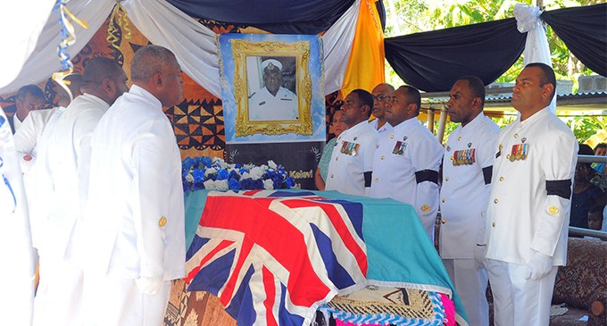 Late Navy Officer Accorded Military Tradition