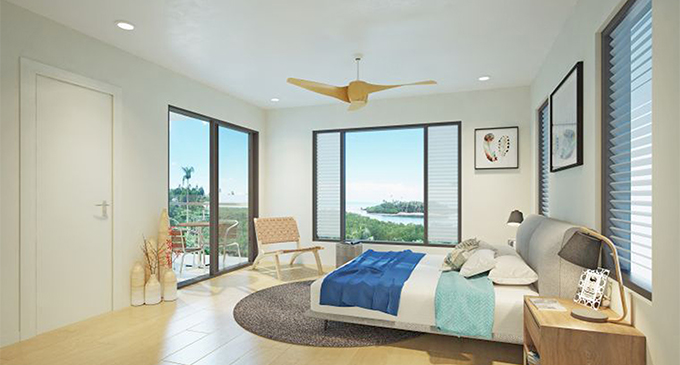 An artist's impression of a room in the Qeleya Point Apartments project.