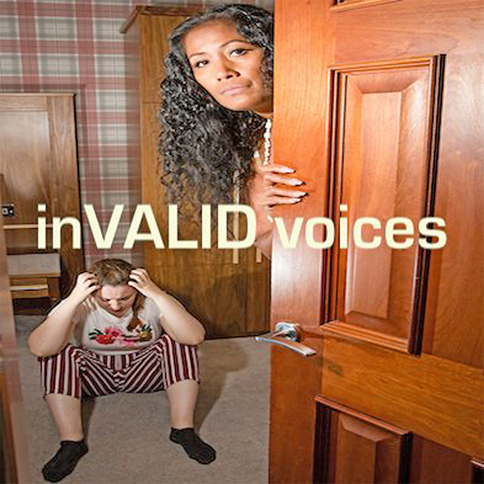 Poster for the play 'inVALID Voices'.