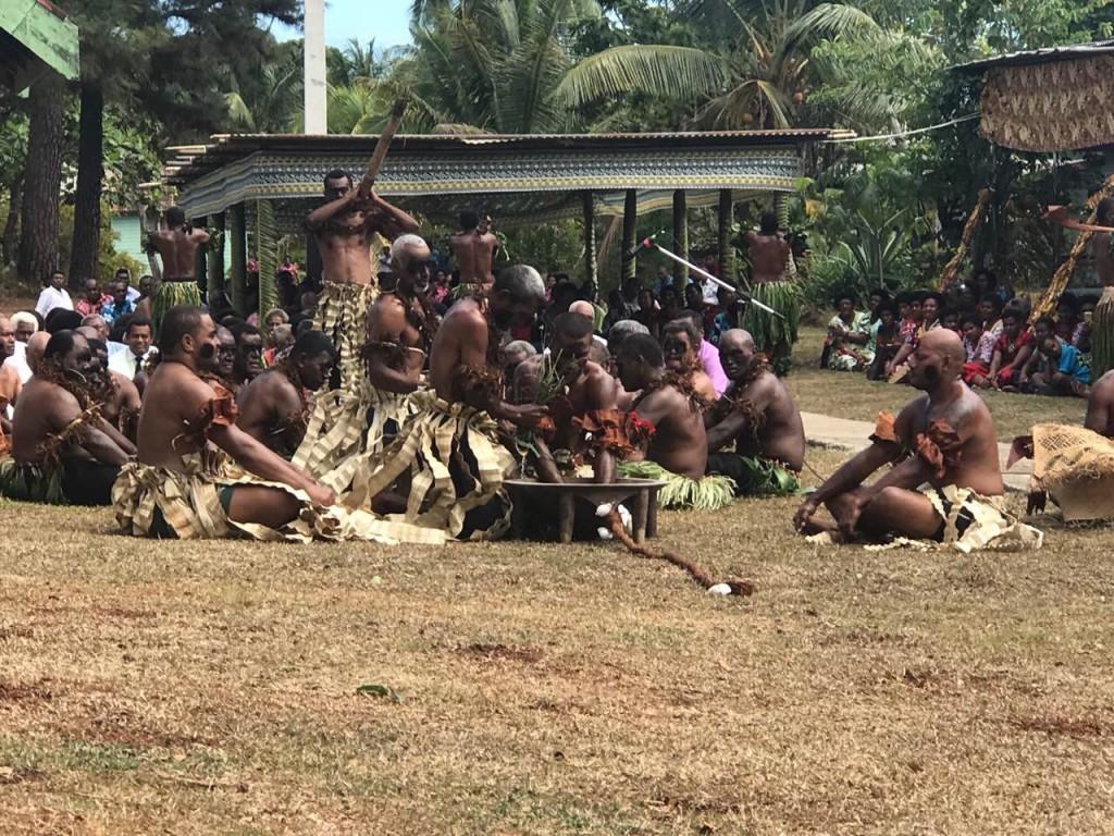 Caumatalevu clan of Naduri perform the yaqona ceremony.  Photo: Nacanieli Tuilevuka