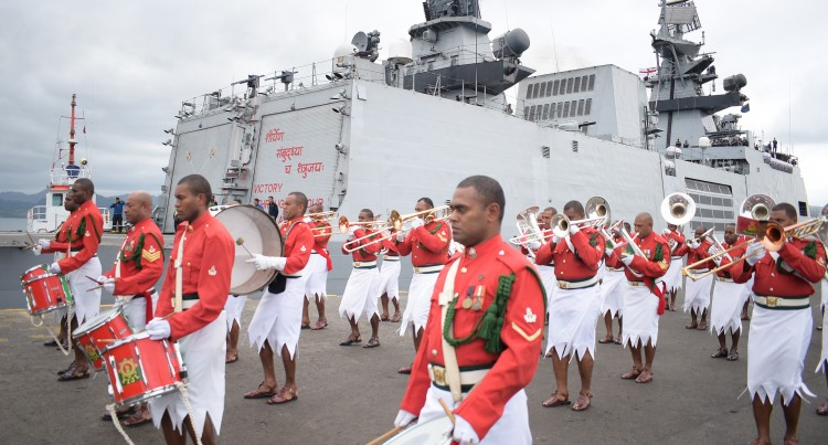 INS Sahyadri Personnel Join Our  Navy At Exercise Kakadu In Darwin