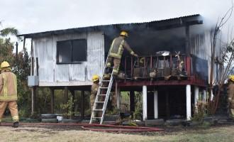 Morning Fire Destroys House,  3 Homeless