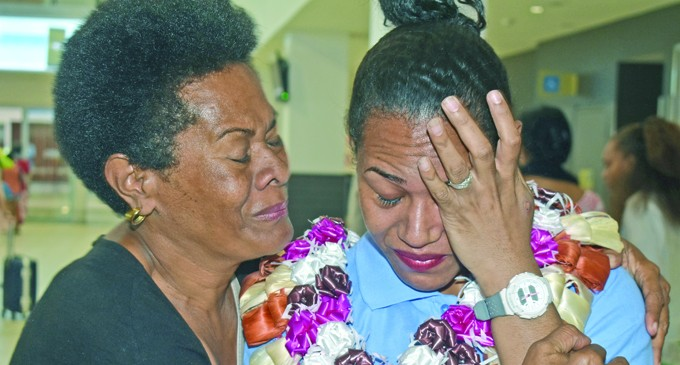 Naevuevu Fire Survivor Return From First Tour Of Duty, Reminisce How She Was Saved By Her Late Mother