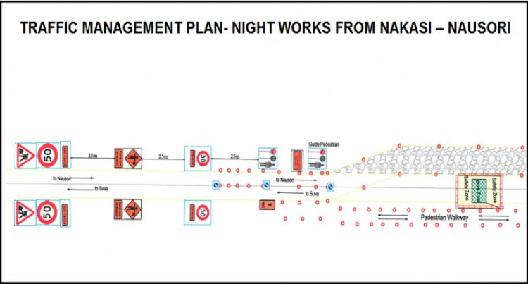 Night works on Kings Road from Nakasi – Nausori