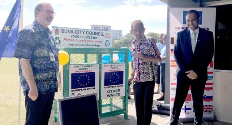 European Union Supplies Bins For Cleaner Suva City