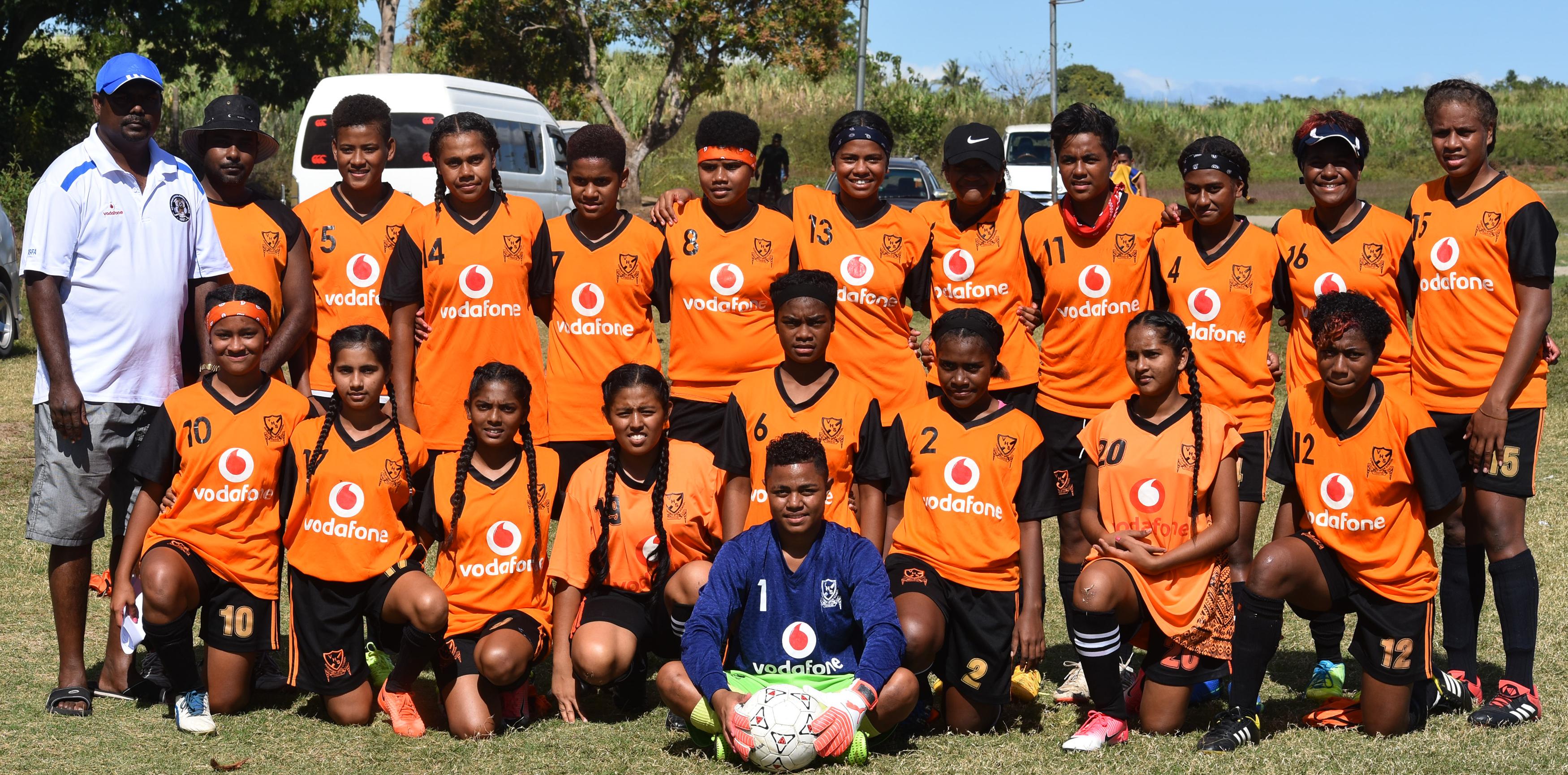 Vunimomo High School open girls team at Korovuto College ground in Nadi on August 12, 2018. Photo: Waisea Nasokia
