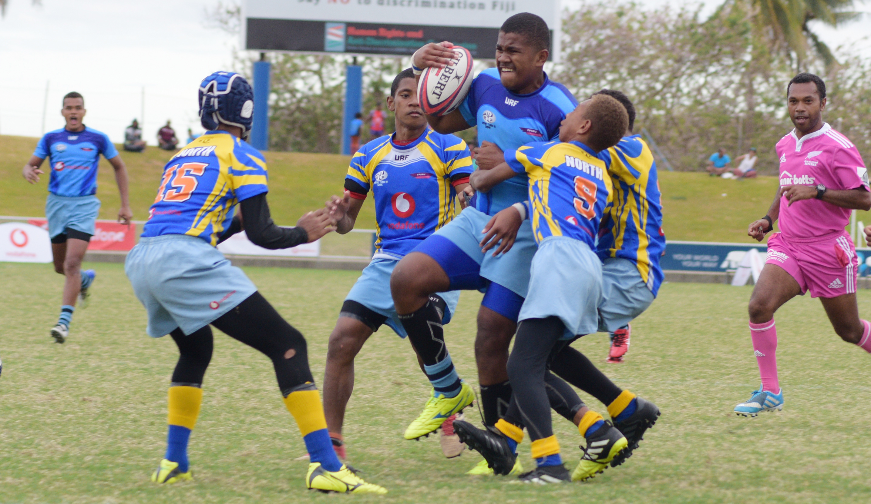 2018 Vodafone Kaji Rugby tier 1-under 14 final action between Suva and Cakaudrove at ANZ Stadium on August 15, 2018. Photo: Ronald Kumar
