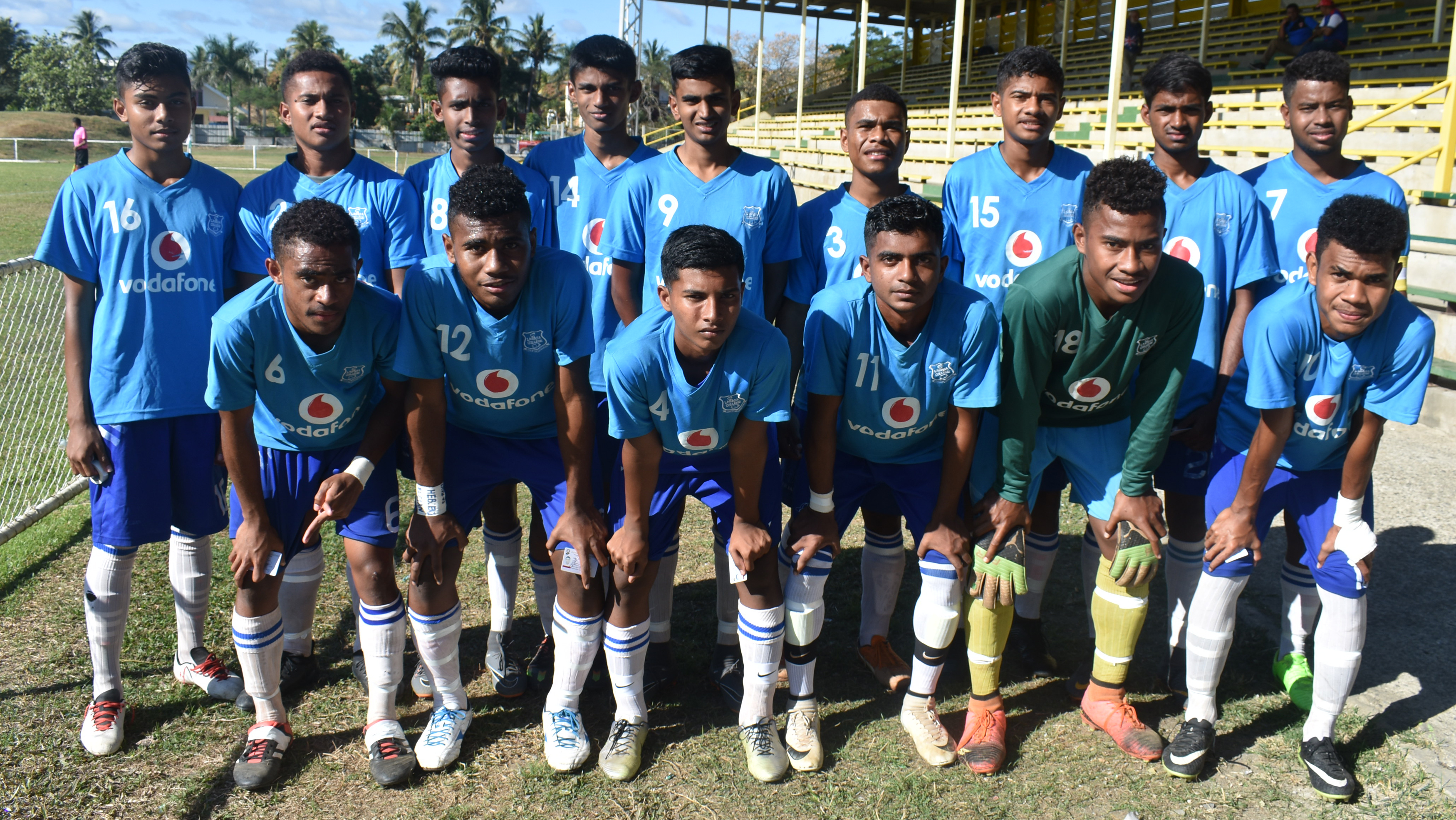 Labasa College Under 19 football team at the Prince Charles Park in Nadi. Photo: WAISEA NASOKIA