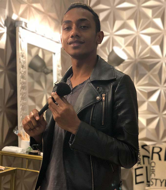 Alipate Sowane, 21, designer and make-up artist at Beauty Bar Fiji at House of Design in Victoria Parade, Suva  on September 28, 2018. Photo: Sheenam Chandra.