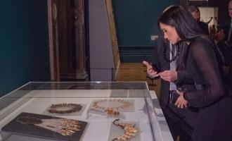 Duchess View Fijian Exhibits At Royal Academy Of Arts, London