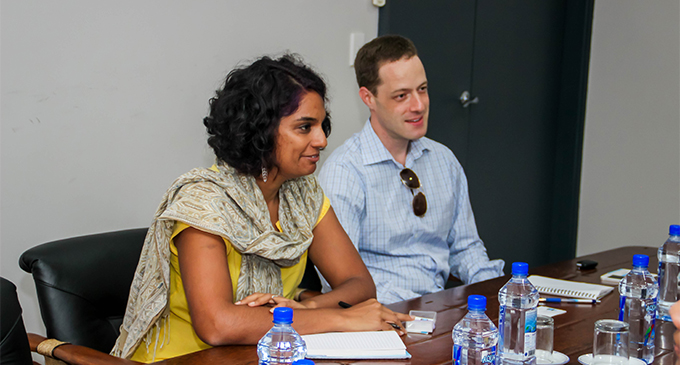 From left: Seema Chandra and Daniel Kark on September 28, 2018. Photo: Fijian Elections Office