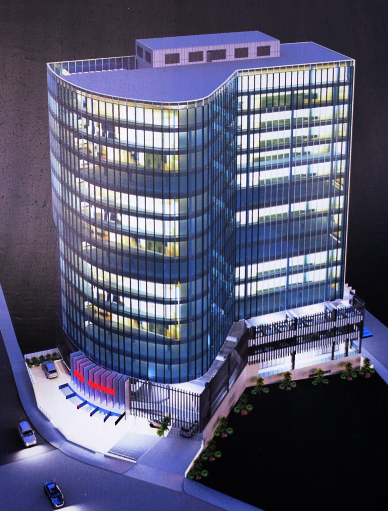 An artist's impression of new Fiji Holdings Limited Tower being built on Gordon Street, Suva.