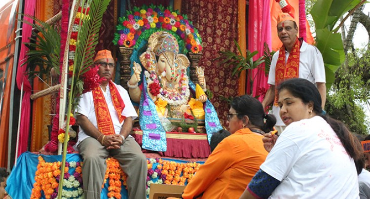 Hindu devotees mark birth of Lord Ganesh