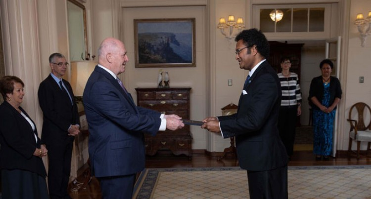 High Commissioner Luke Daunivalu Presents Credentials To Australian Governor General